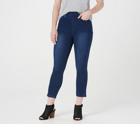 Belle by Kim Gravel Flexibelle Ruched Cropped Jegging