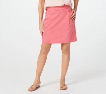 Denim & Co. Active French Terry Skort with Seaming Details - A399461