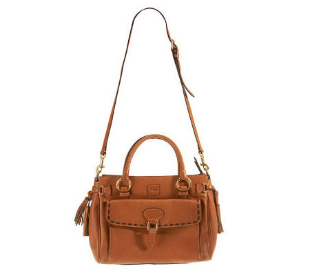Dooney & Bourke Florentine Leather Large Pocket Satchel