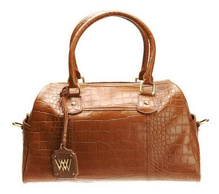 """As Is"" Wendy Williams Medium Leather Satchel"