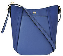 H by Halston Smooth & Pebble Leather Crossbody Bag - A274062
