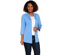 Denim & Co. Essentials Heavenly Jersey 3/4 Sleeve Cardigan - A274362