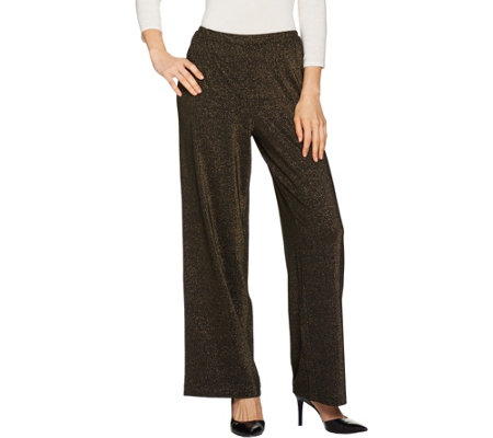 Joan Rivers Petite Length Shimmering Knit Pull-On Pants