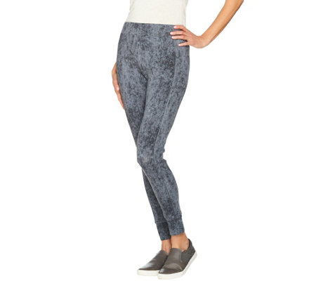 LOGO by Lori Goldstein Printed Knit Crop Leggings