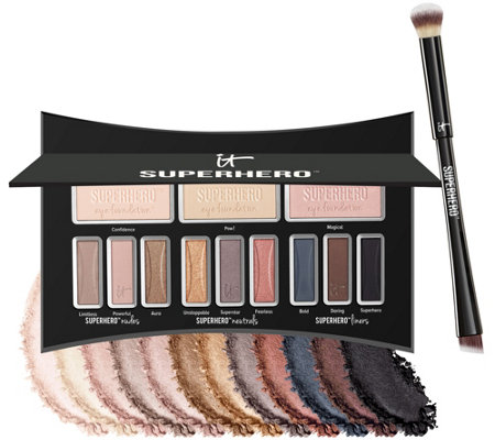 IT Cosmetics Superhero Luxe Anti-Aging Eyeshadow Palette w/Brush