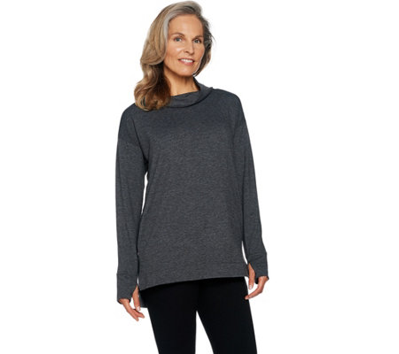 Cuddl Duds Comfortwear French Terry Long Sleeve Soft Mock Tunic