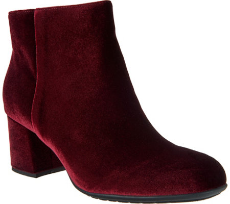 Earthies Leather or Velvet Ankle Boots - Apollo