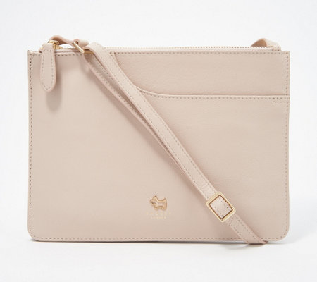 9f113ef92028 RADLEY London Pocket Leather Medium Crossbody Handbag - Page 1 — QVC.com