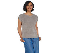 Barefoot Dreams CozyChic Ultra Lite Cap Sleeve Tee - A303162