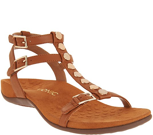 Vionic Leather Multi-Strap Sandals - Hailey