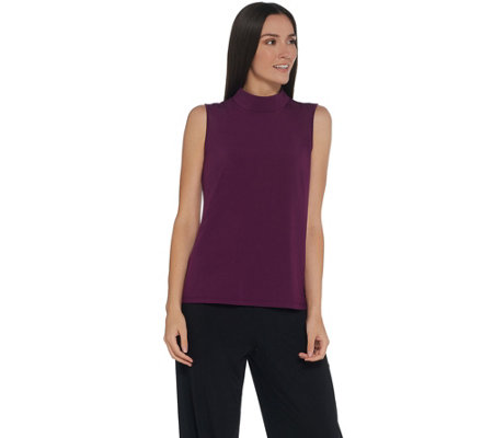 Joan Rivers Wardrobe Builders Mock Turtleneck Tank w/ Zipper