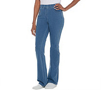Quacker Factory Tall DreamJeannes Pull-On Boot Cut Pants - A309862