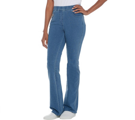Quacker Factory Tall DreamJeannes Pull-On Boot Cut Pants