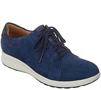 Clarks UnStructured Leather Lace-Up Sneakers - Un.Adorn Lace - A342362