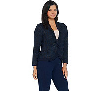Vince Camuto Boucle Jacket with Ruffle Front Detail - A347162