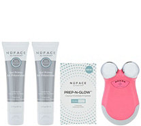 NuFACE Mini Facial Toning Device with Gel and Prep and Glow Pads - A349662