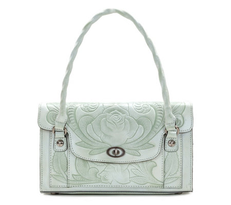 Patricia Nash Leather Tooled Satchel Sanabria