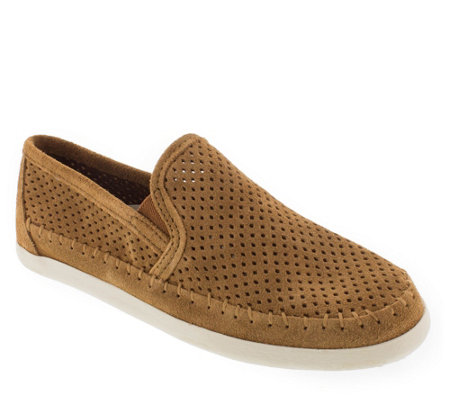 Minnetonka Suede Leather Slip-On Sneakers - Pacific Suede