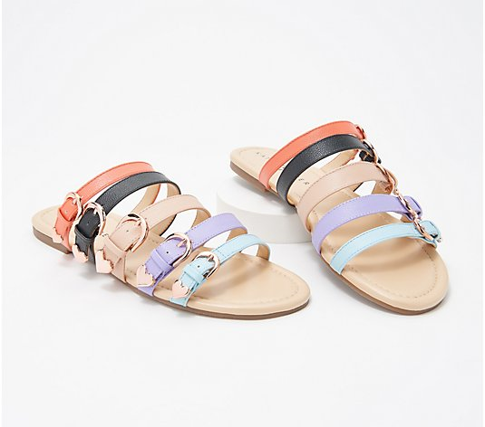 Katy Perry Buckle Strap Slide Sandals - The Nikki