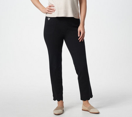 Quacker Factory DreamJeannes Pull-On Slim-Leg Ankle Pants