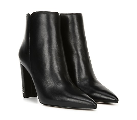 Sam Edelman Leather Pointed-Toe Ankle Boots - Raelle