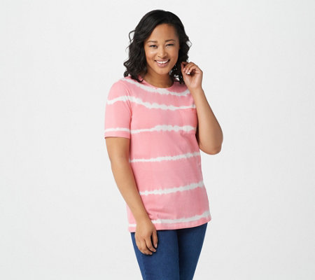 Denim & Co. Tie Dye Perfect Jersey Round-Neck Top