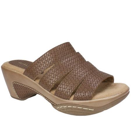 Rialto Textured Slide Sandal Clogs Valora