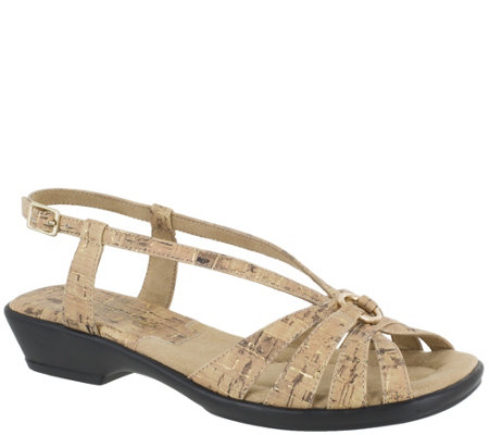 Easy Street Wishbone Silhouette Sandals - Amy
