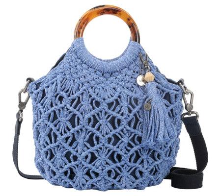 The Sak Helena Bracelet Handle Crocheted Crossbody Handbag Qvccom