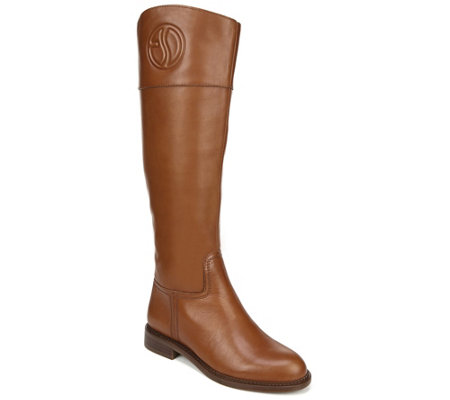 latest selection united states good looking Franco Sarto Leather High Shaft Wide Calf Boots - L Hudson — QVC.com