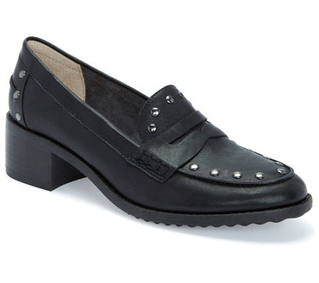 Me Too Slip-On Studded Block-Heel Loafers - Dani