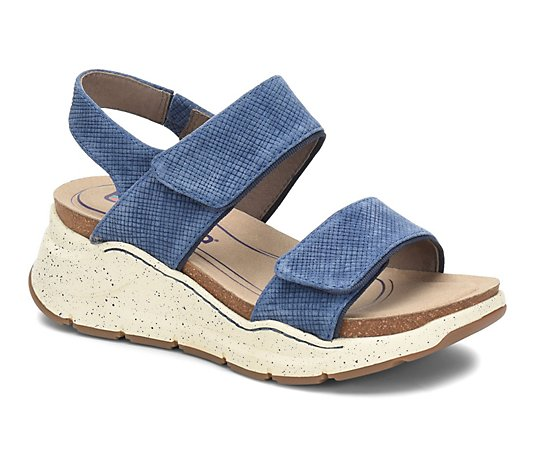 Bionica Slingback Leather Wedge Sandals - Olivette