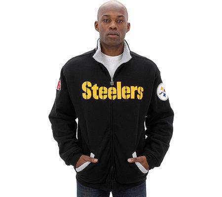 NFL Pittsburgh Steelers Full-Zip Sherpa-Lined Jacket — QVC.com 9ee69c974