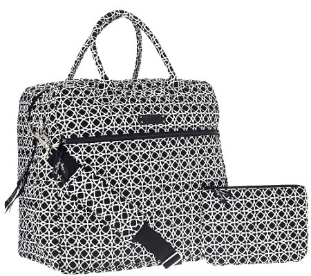 321e19debe16 Vera Bradley Signature Print Overnighter Bag   Pouch. Back to video. On-Air  Presentation