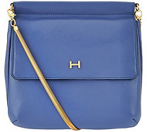 H by Halston Smooth Leather Crossbody Handbag with Snake Chain - A274063