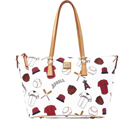 Dooney & Bourke MLB Angels Zip Top Shopper