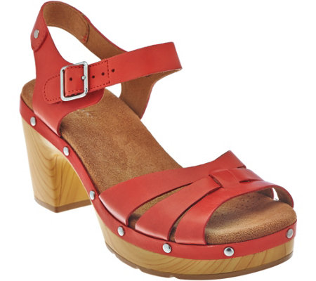 """As Is"" Clarks Artisan Leather Clog Sandals - Ledella Trail"