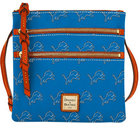 Dooney & Bourke NFL Lions Triple Zip Crossbody