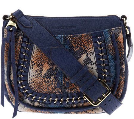 """As Is"" Aimee Kestenberg Pebble Leather Crossbody - Genny"