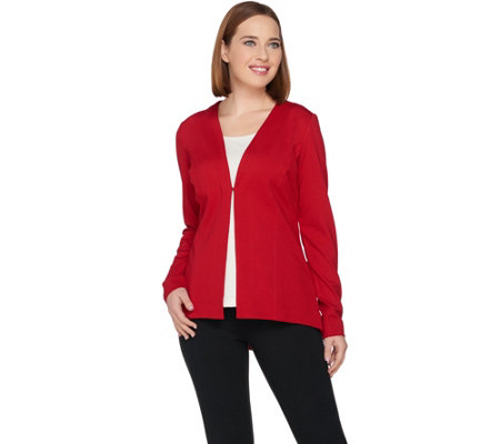 """As Is"" Susan Graver Ponte Knit Long Sleeve Jacket"