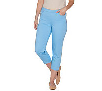 Susan Graver Stretch Twill Pull-on Crop Pants - A301163