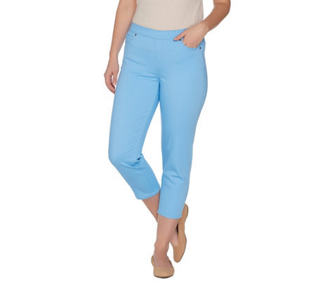 Susan Graver Stretch Twill Pull-on Crop Pants