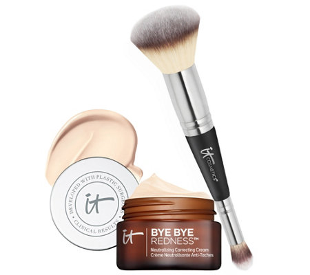 IT Cosmetics Bye Bye Redness Anti-Aging Concealing Cream w/ Brush