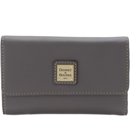 """As Is"" Dooney & Bourke Smooth Leather Flap Wallet"