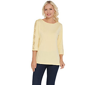H by Halston Beige Open Front Topper with Crossover Back Detail