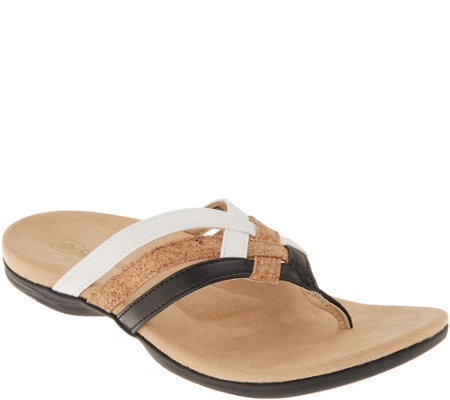 Spenco Orthotic Triple Strap Thong Sandals - Trinity