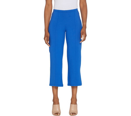 Women with Control Petite Pull-On Pintuck Crop Pants