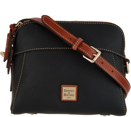 5780229fd Dooney & Bourke Pebble Leather Crossbody - Cameron - Page 1 — QVC.com