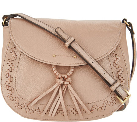 """As Is"" Tignanello Pebble Leather Saddle Crossbody"