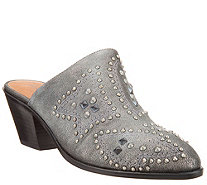 frye & co. Distressed Leather Studded Mules - Phoenix - A344763